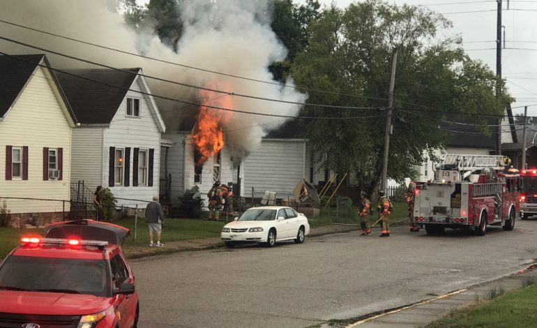 Fire Destroys Evansville House