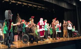 Santa Goes Green at Apollo High School