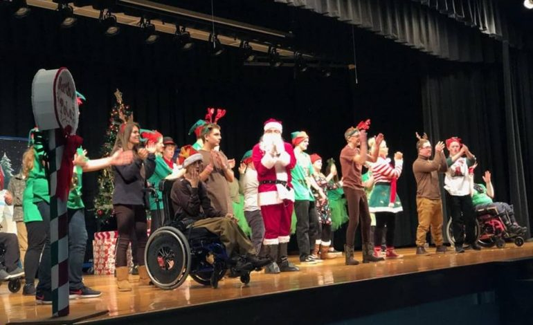 """Santa Goes Green"" at Apollo High School"