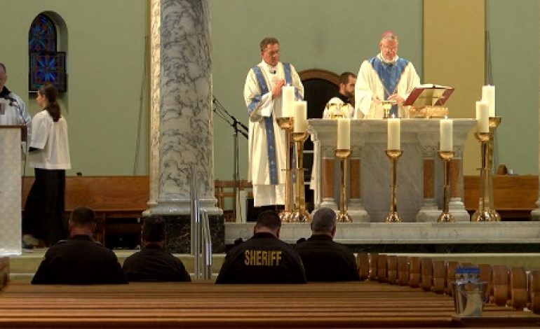 Evansville First Responders Honored at Blue Mass