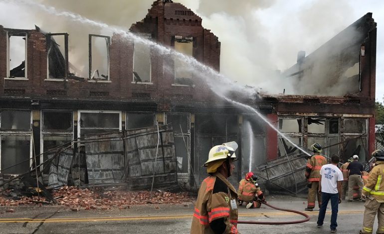 Crews Battle Blaze at Koerner Block Building in Birdseye