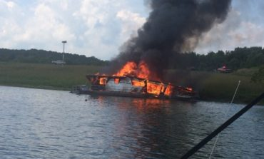 $90,000 Boat Goes Up In Flames On Patoka Lake