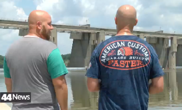 Men react to rescue after being stuck in J.T. Meyers lock and Dam