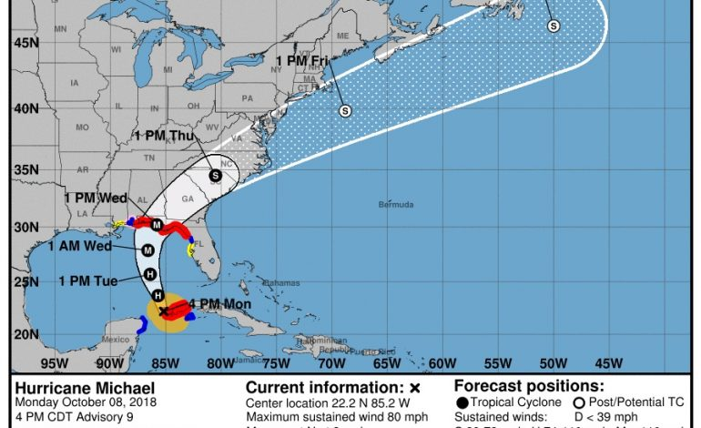 Hurricane Michael, A Cold Front And A Cool Down