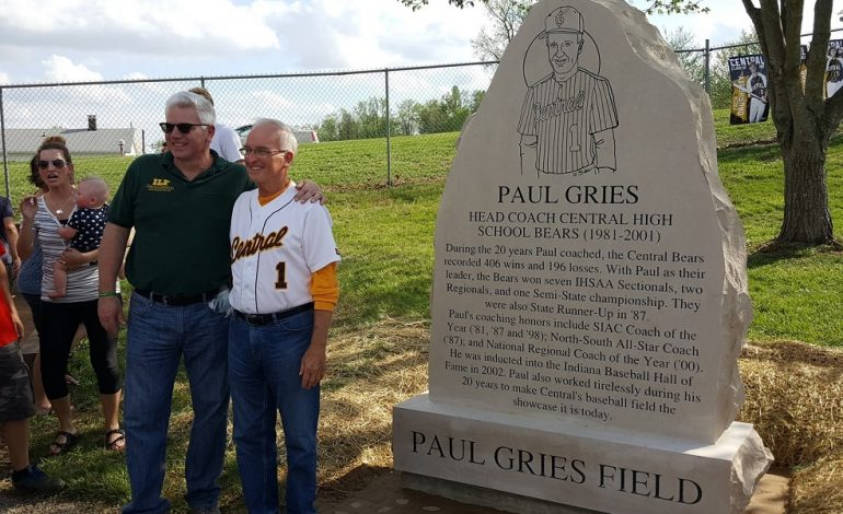 Former Central Coach Gries Honored With Field and Holiday