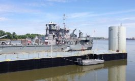 LST 325 Departs For Iowa