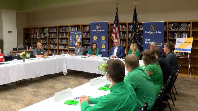 Governor Holcomb Visits Perry Central High School