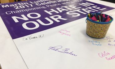 Sen. Taylor Joins UE Students For No Hate In Our State Event