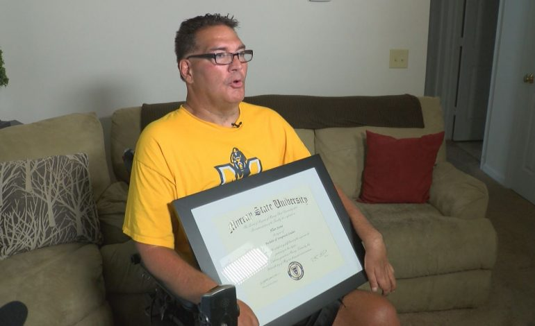 Henderson Man Receives Diploma in Unforgettable Way