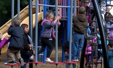 Students at Cynthia Heights Explore New Playground