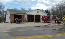Truck Catches Fire at Scott Township FD in Darmstadt