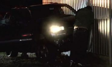 SUV Slips on Icy Patch, Crashes Into Evansville Business