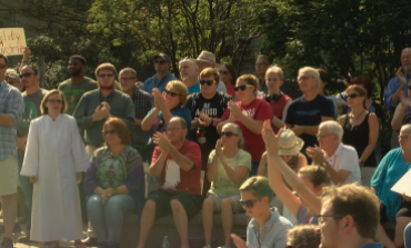 Community Gathers For Love Not Hate Rally