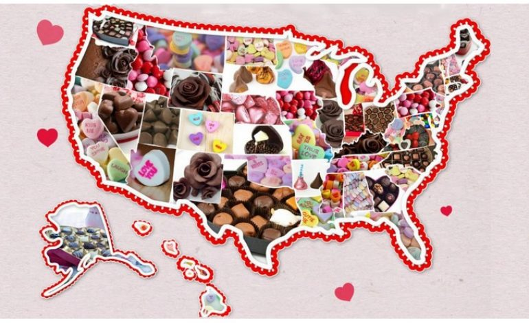Most Popular Valentine's Day Candy by State