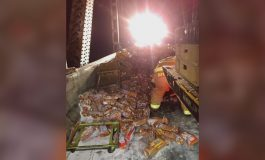 Northbound Bridge Down to One Lane after Bread Truck Catches on Fire