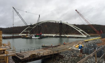 New Eggners Ferry Bridge Main Span Placement