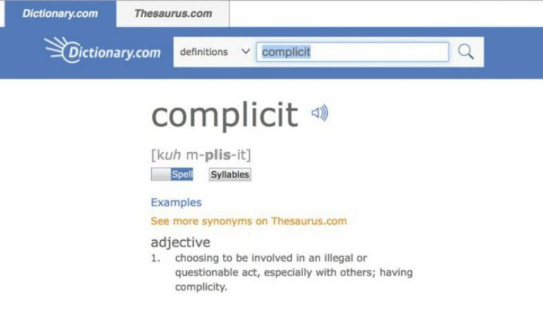 Dictionary.com Crowns 'Complicit' Word of the Year
