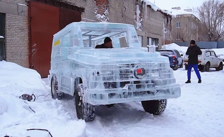 Russian Man Builds Driveable Mercedes Out Of Ice