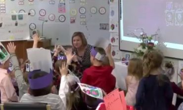 Kindergarten Students Celebrate Marriage of Letters Q and U