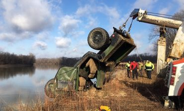 Two Women Pulled from Submerged Humvee