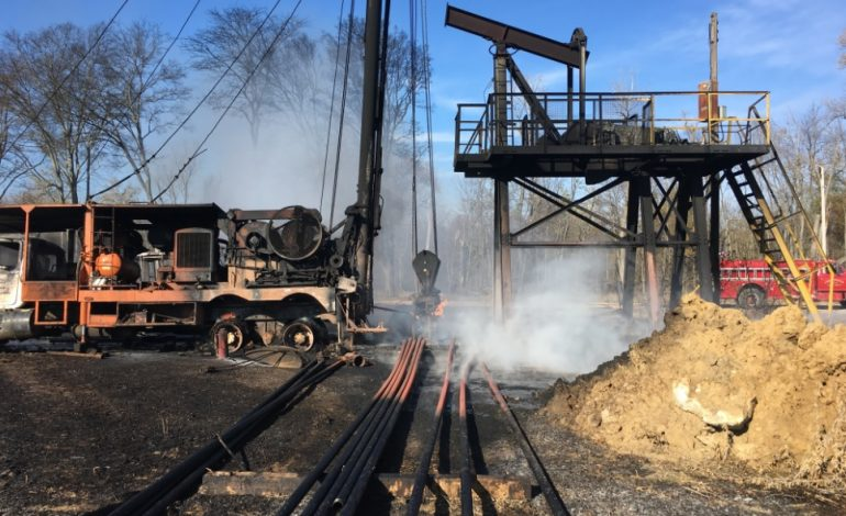 One Man Air Lifted to Hospital after Oil Rig Explosion in White County