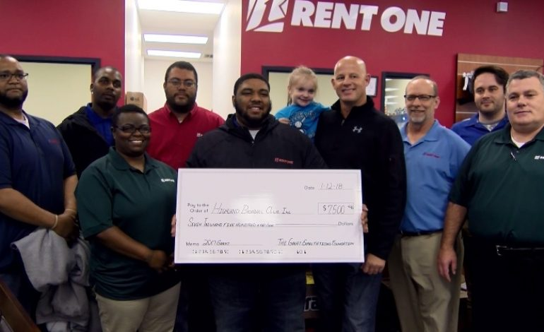Evansville's Rent One Employees Donate to Challenger League