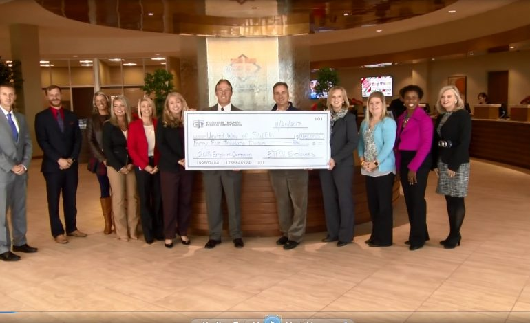 Evansville Teacher's Credit Union Donates more than $40,000 to United Way